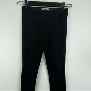 Stefanel Modern Black Ponte Skinny Pants Size 2
